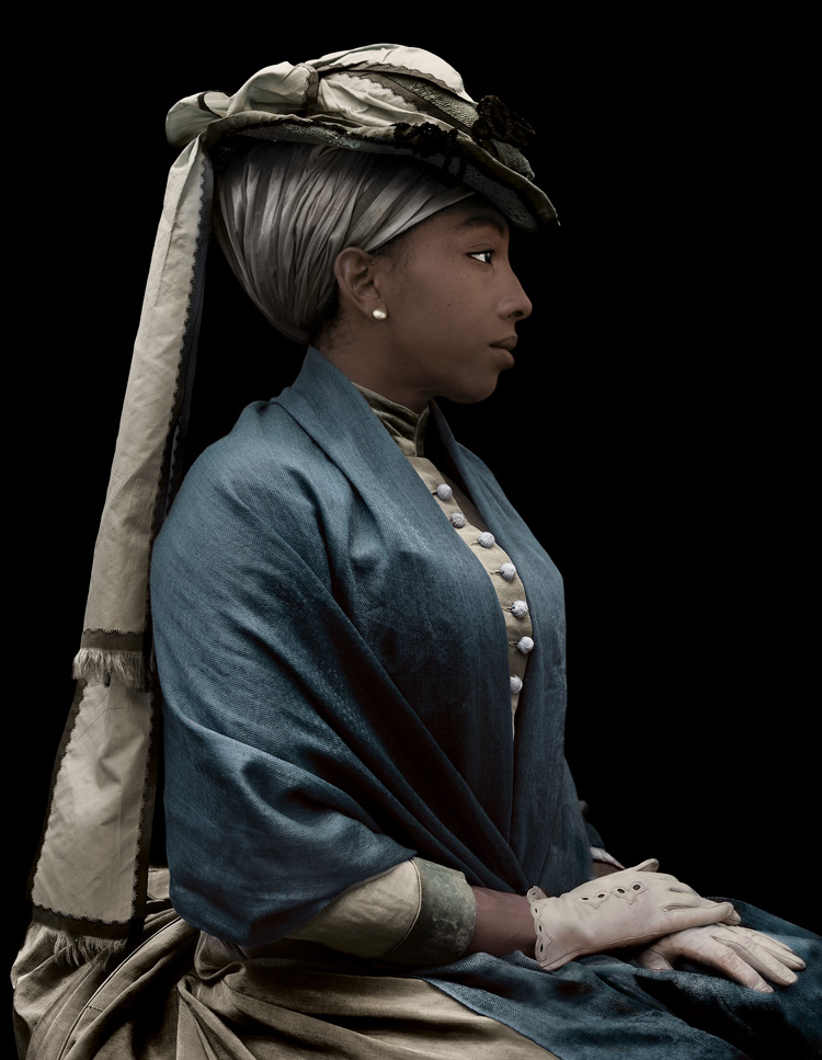 Ayana V. Jackson (American, born 1977); Tignon, 2015; Archival pigment print; Acquired in 2016; JPMorgan Chase Art Collection; Courtesy of the artist and Mariane Ibrahim Gallery